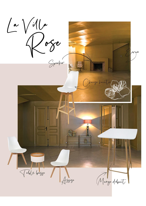 Etage bas - Villa Rose - Soirée entreprise Uzik