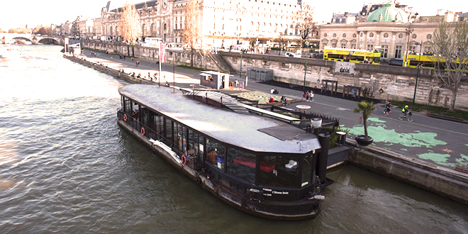 Privatisation / Location, Péniche Le Quai, Paris 7eme